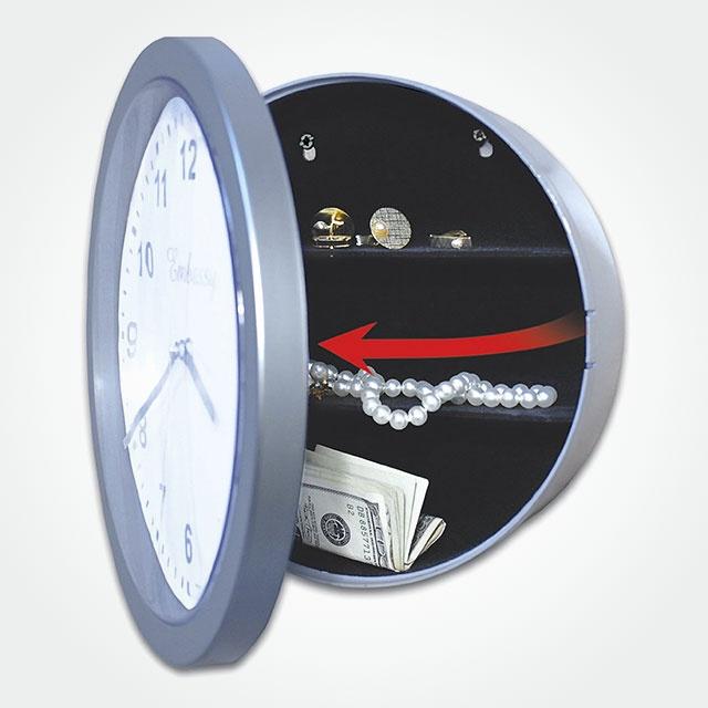 hide stuff in a clock...smart