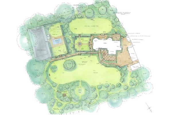 country house garden design guildford surrey. Outbuildings on boundary
