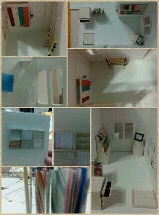 Maqueta de la materia espacios de oficina una casa - Trabajo de diseno de interiores ...