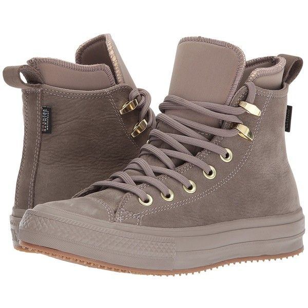 Converse Chuck Taylor(r) All Star(r) Waterproof Boot Nubuck Hi... ($130) ❤ liked on Polyvore featuring shoes, high top shoes, water proof shoes, laced shoes, converse shoes and nubuck leather shoes