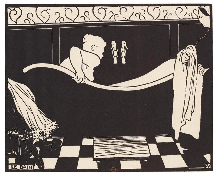 Félix Vallotton, Le Bain, 1894, xylographie, 18,1 x 22,5 cm (planche). Paris, Bibliothèque nationale de France, département des Estampes et de la  Photographie ©