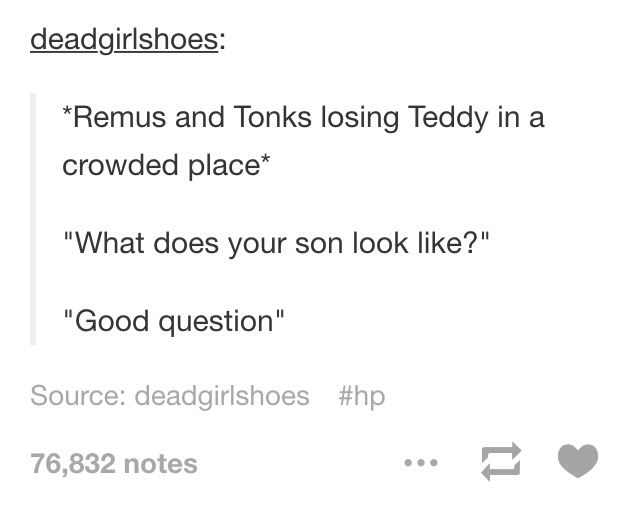 Remus & Tonks headcanon - the only thing with remus and tonks that I can stand because HELLO WOLFSTAR