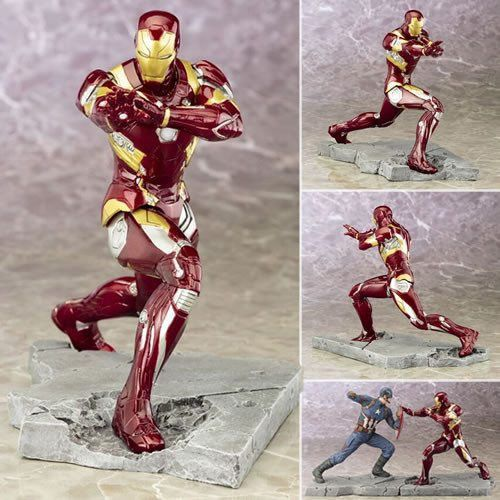 Marvel ArtFX+ Statues - 1/10 Scale Captain America 3 Movie Civil War - Iron Man Mark 46