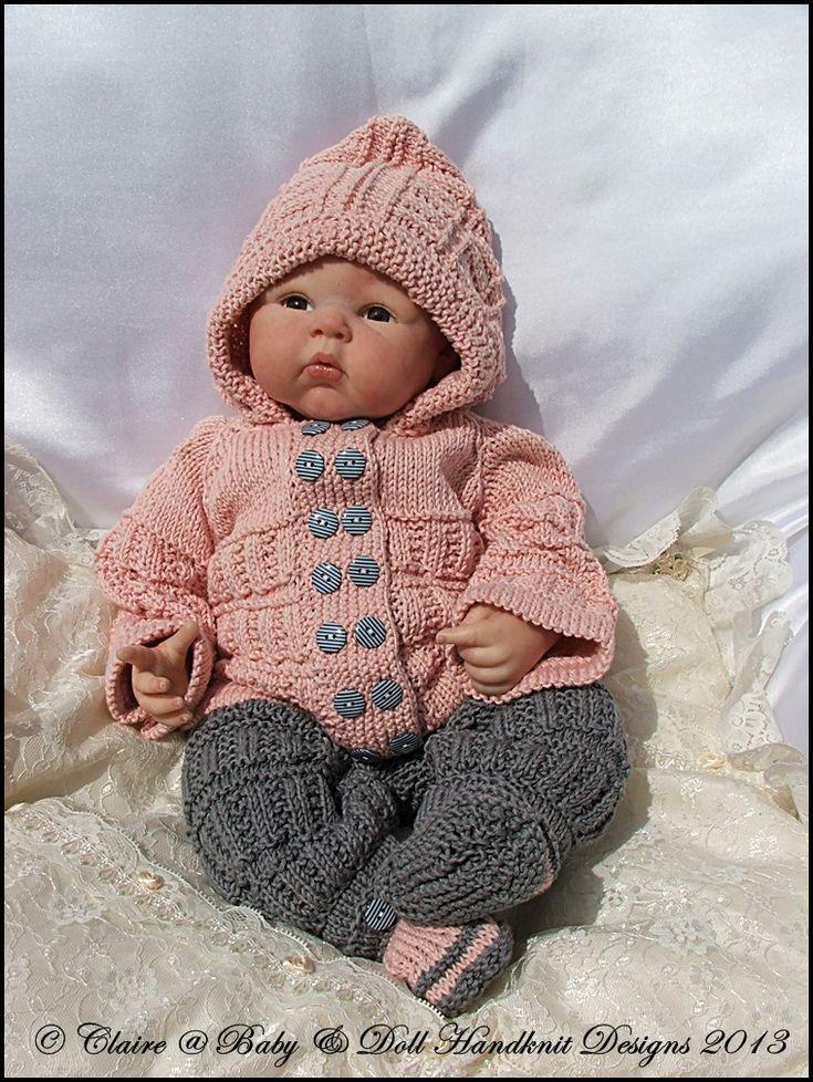 Hooded Pram Suit 16 22 Quot Doll Newborn 0 3m Baby Knitting