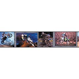 "Brewster Wallcovering 6"" Motocross Prepasted Wallpaper"