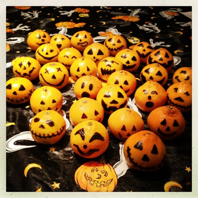 Mandarin orange jack-o-lanterns | Halloween | Halloween ...