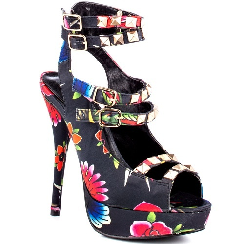 rupaul tropical floral2: Rupaul Tropical, Platform, Multi Stud, Floral Rupaul, Stilettos, Iron, Multi Stiletto