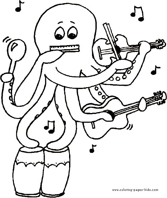 Music Coloring Pages | ... Music coloring pages and sheets can be found in the Music color page