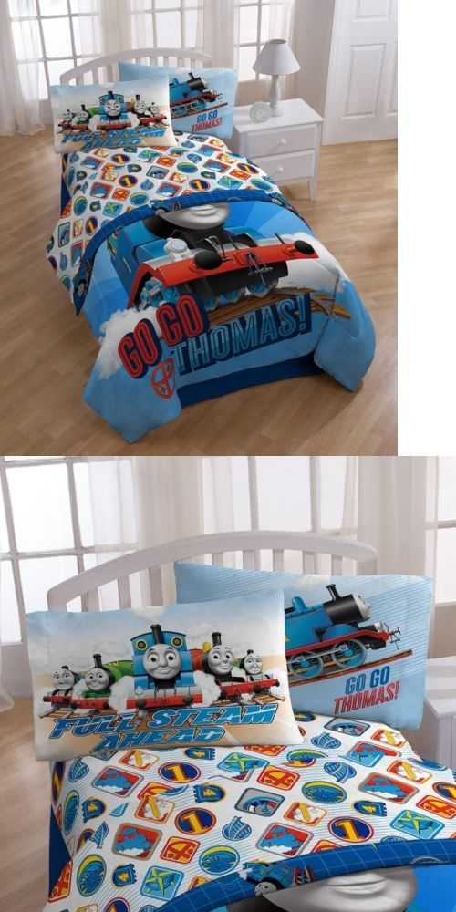 Kids at Home: Thomas The Train Bedding Sheet Set, Twin Size, Kids Toddler Bed Sheets Pillow BUY IT NOW ONLY: $36.44