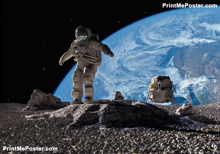 Poster of The astronauts, Space Posters, #poster, #printmeposter, #mousepad, #tshirt