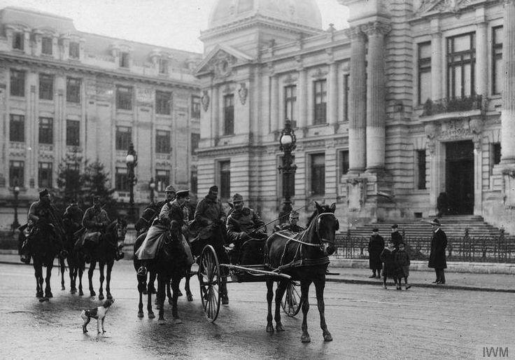 Calea Victoriei, 1916, în timpul ocupației germane.