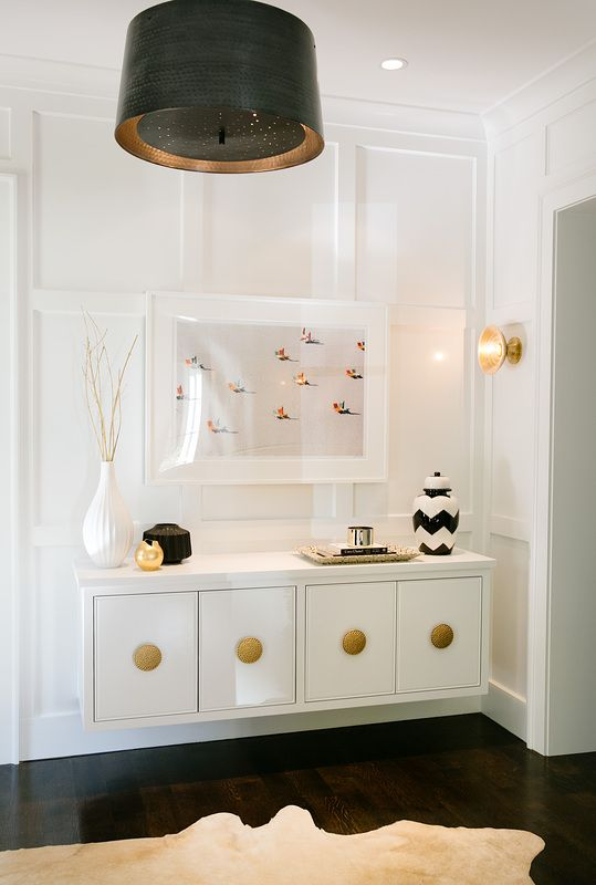 black, white and brass all over. A+