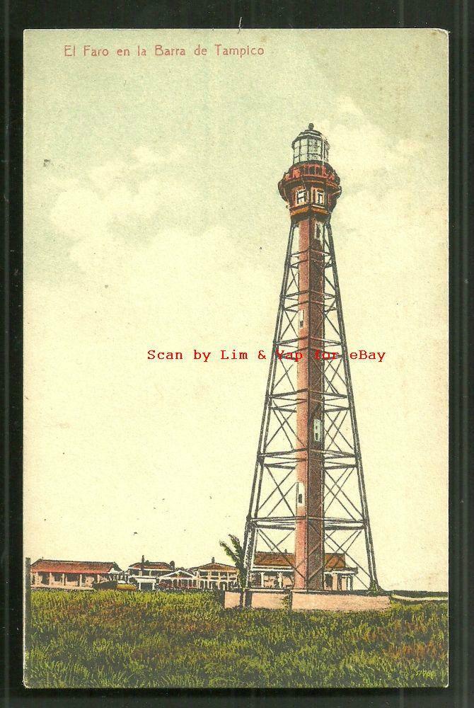 Tampico Lighthouse Faro Tamaulipas Mexico ca 1910