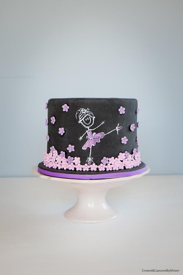 Ballerina Chalkboard Cake - Cake by Miriam