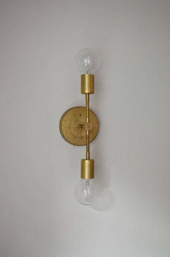 The Wild. Solid Brass wall ceiling sconce by triple7recycled $98