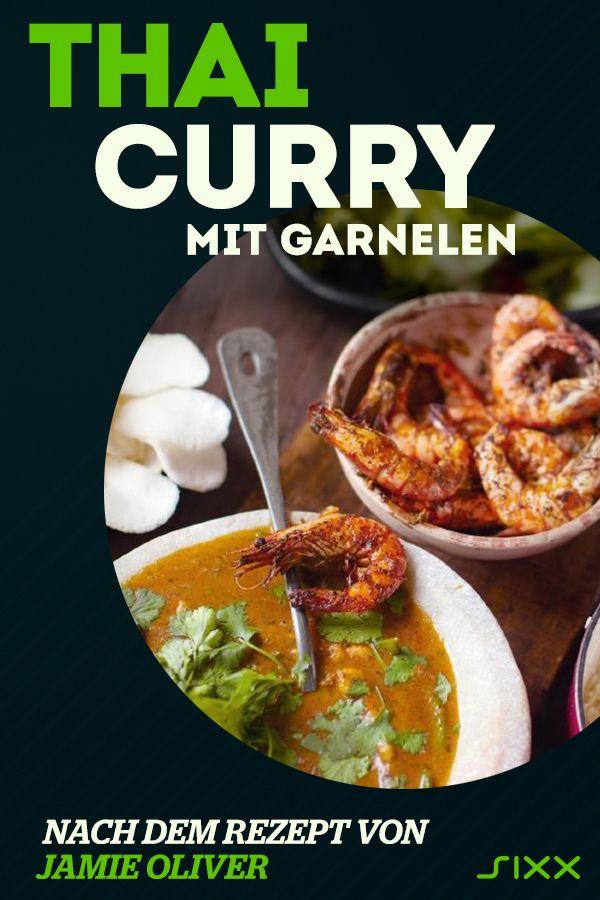 Rotes Thai Curry Mit Riesengarnelen Curry Rezept Von Jamie Oliver Rezept Jasminreis Rezepte Rezepte Und Thai Curry