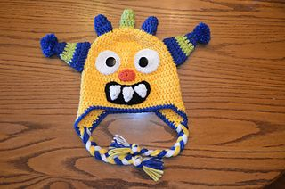 Monster Crochet Hat # Free #  crochet link here   DISCLAIMER     First and foremost I take no credit for any of the FREE pattern links o...