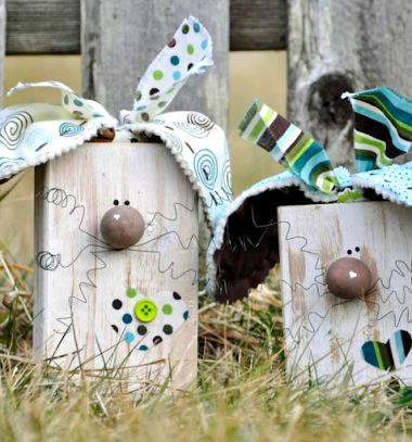 Fa kocka nyuszik - húsvéti dekoráció / Mindy -  kreatív ötletek és dekorációk minden napra