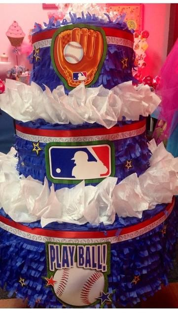 Cool decorations at a Baseball party! See more party ideas at CatchMyParty.com!