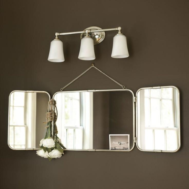 Tri Fold Vanity Mirror Ballard Designs Downstairs Bathroom