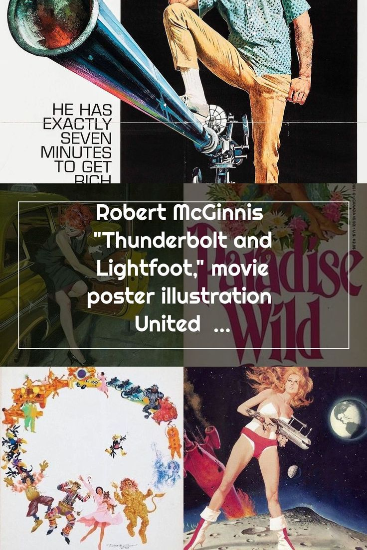 "Robert McGinnis ""Thunderbolt and Lightfoot,"" movie poster"