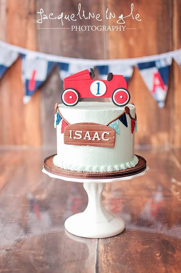 Vintage Car Smash Cake