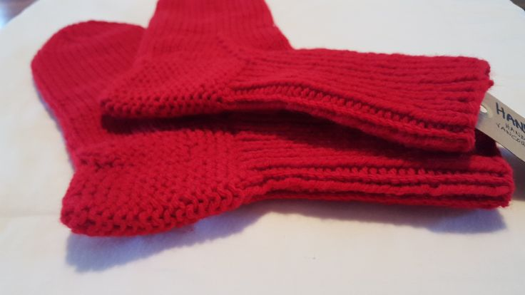 RED HAND KNITTED SOCKS - easy ship gift idea  Norwegian knitting technique, hand knitted socks $12/pair CDN + taxes and shipping. Machine washable & dryer friendly. 100% acrylic. Handmade in Vancouver, Canada, available in various colours.  #handysocks