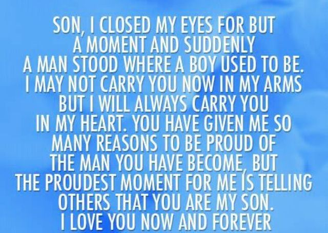 Quotes For Son From Mom For Graduation