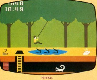 Pitfall! Atari game...I played this for hours! One of my first games on Atari.