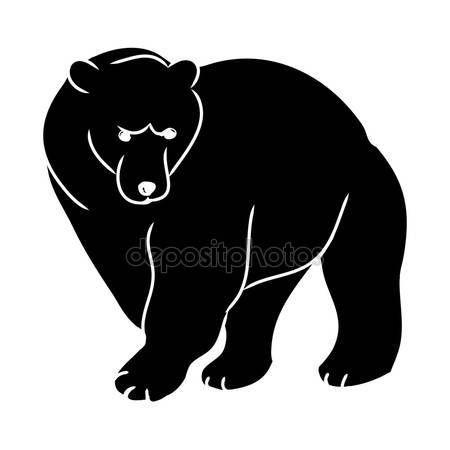 depositphotos_100907774-stock-illustration-brown-bear-black-silhouette.jpg (450×450)