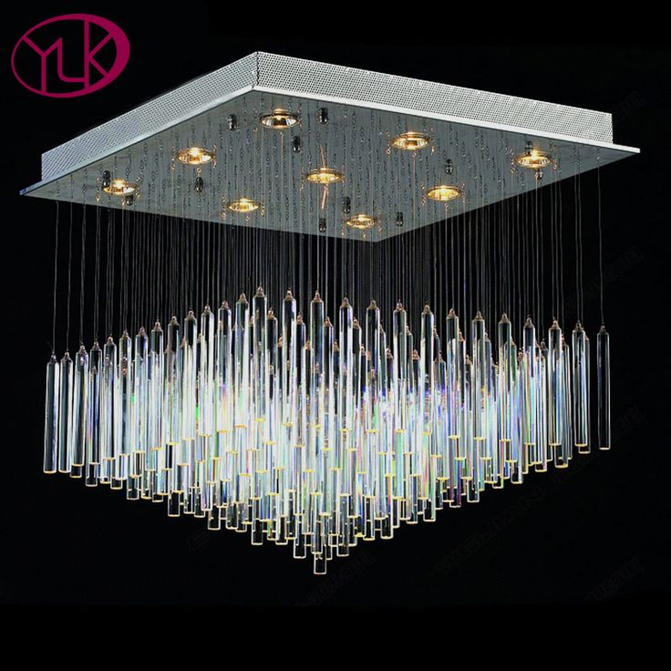 Square Modern Crystal Chandelier For Living Room Large Home Decor Dimmable Light Fixture For Ceiling LED Lustres De Cristal Lamp    AUSKTIS 80 CM . 60X60
