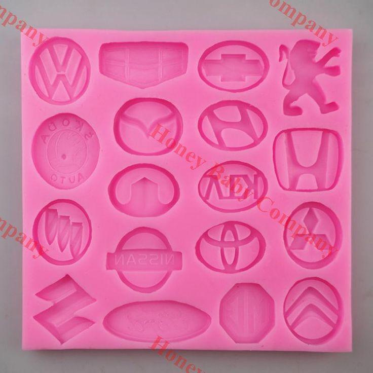 Neue hochwertige 3d beliebte auto logo kuchen dekoration form tonform fondant silikonform cookies form kostenloser versand in Neue hochwertige 3d beliebte auto logo kuchen dekoration form tonform fondant silikonform cookies form kostenloser versand aus   auf AliExpress.com | Alibaba Group
