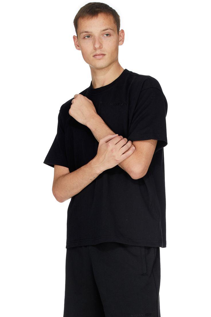 Adidas Originals X Pharrell Williams Pharrell Williams Basics T Shirt Black Black Shirt Pharrell Williams Pharrell [ 1104 x 736 Pixel ]