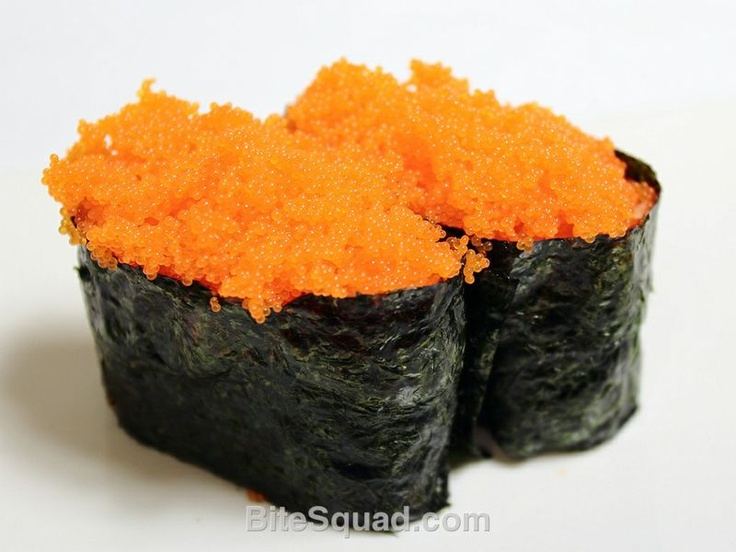 Scrumptious Masago Nirigi from Tiger Sushi. Delivered by bitesquad.com #Minneapolis $5.50