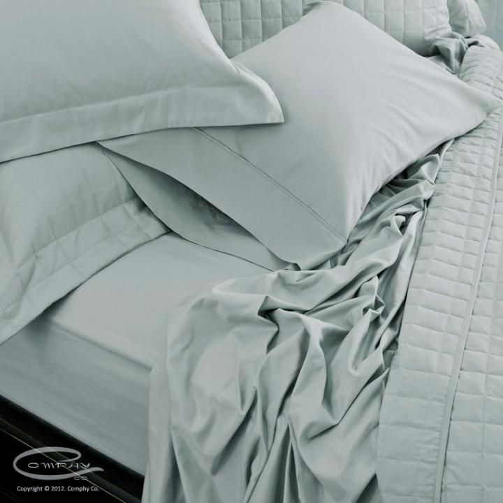 Comphy Sheet Set - these are worth every cent! Bought them after we stayed at a B in Napa that had them.