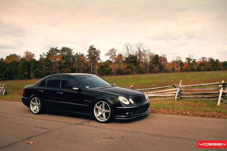 2009 mercedes e class amg lowered on 20s | Mercedes-Benz E 63 AMG (W211) on Vossen Wheels: Photo Collection