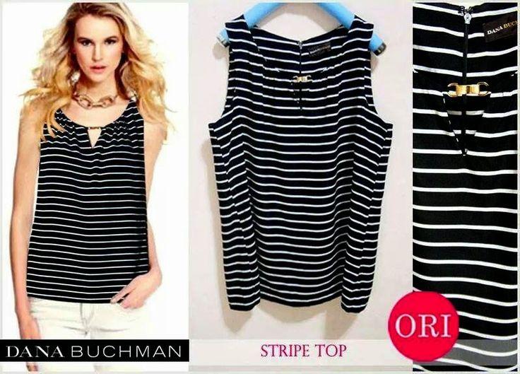 let's shop here : Dana buchman Stripe Top
