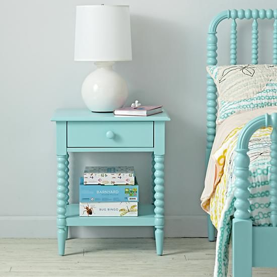 Jenny Lind Azure Nightstand  | The Land of Nod