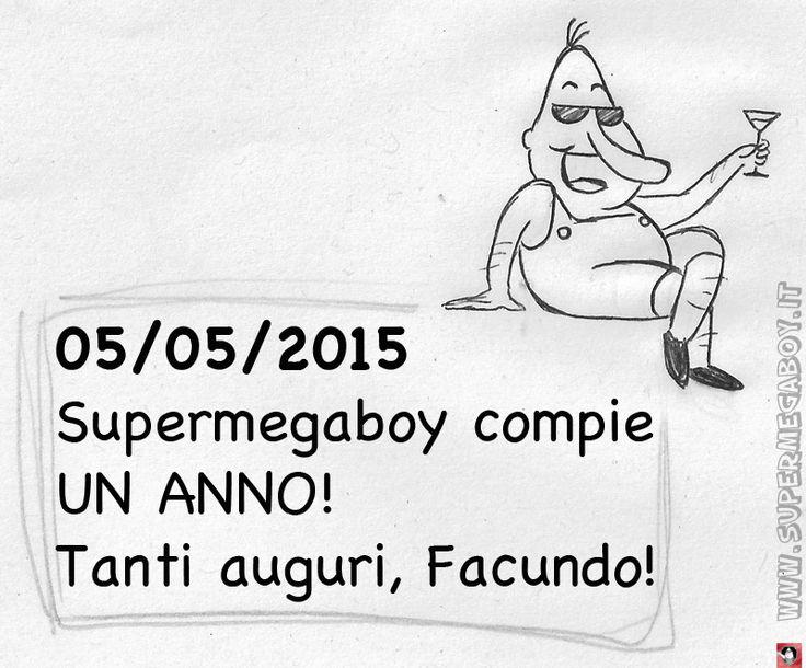Supermegaboy compie UN ANNO!!! Auguri Facundo!