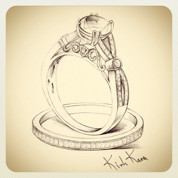 "Stunning Sketch of our new engagement ring form the ""XO"" collection <3  Stay tuned for the launch of our amazing ""Pirouette"" and ""XO"" bridal collections!  http://instagr.am/p/PxqBIVr4Cy/"