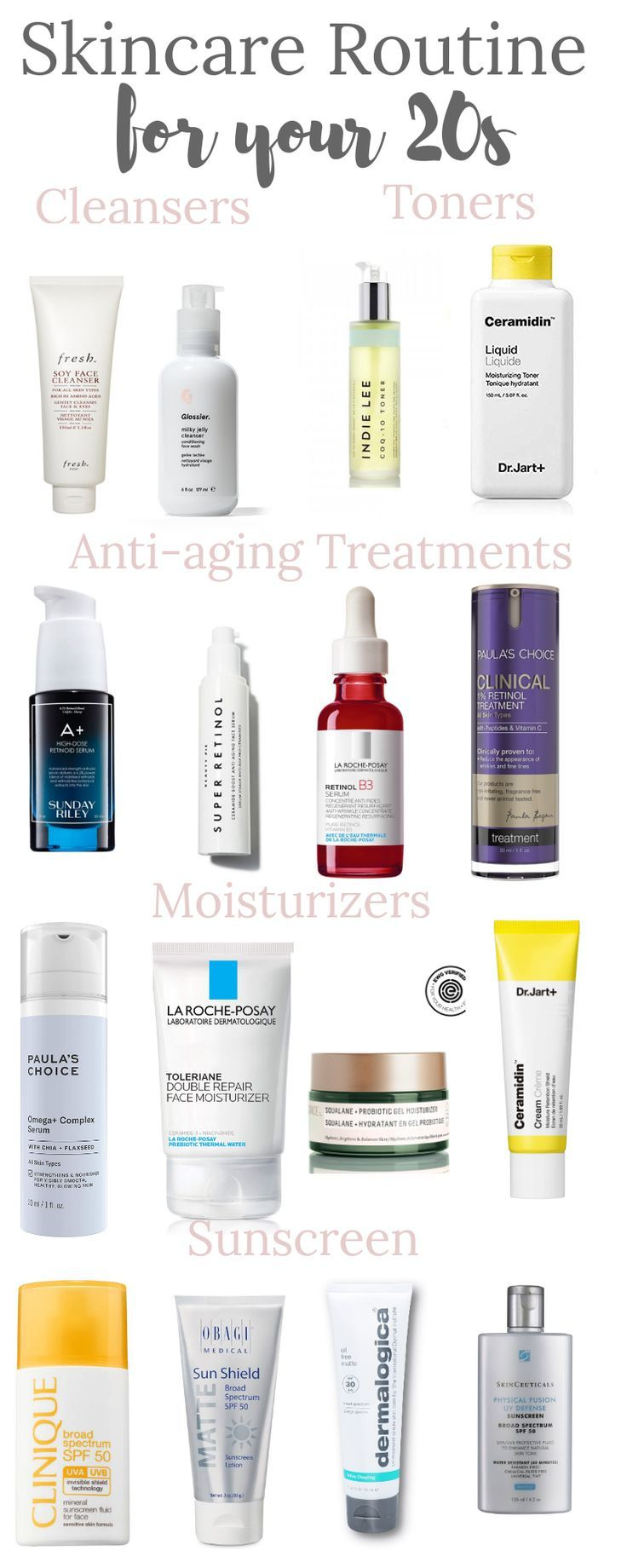 Perfect Skincare Routine For 20s In 2020 Skin Care Routine Cleanser And Toner Skin Care