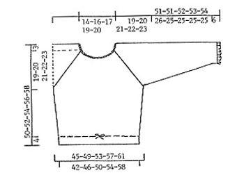 """DROPS bluse i """"Silke-Tweed"""" med raglanaflukning og hæklede kanter i """"Cotton Viscose"""" ~ DROPS Design"""