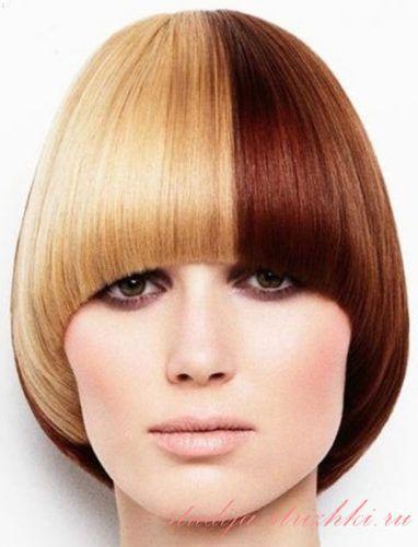 Женская стрижка Паж на короткие волосы