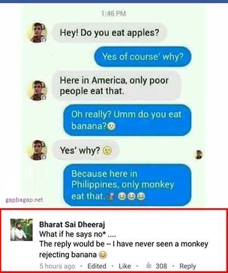 Funny Text About Poor People vs Apples And Monkeys vs Bananas