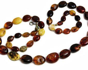Perle di collana di Ambra Ciliegio ambra catena della caramella al burro