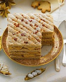 Hazelnut-Praline Torte: Desserts Recipe, Stewart Recipe, Hazelnutpralin, Caramel Cream Filled, Cakes Recipe, Martha Stewart, Hazelnut Pralines Torte, Torte Recipe, Holidays Desserts