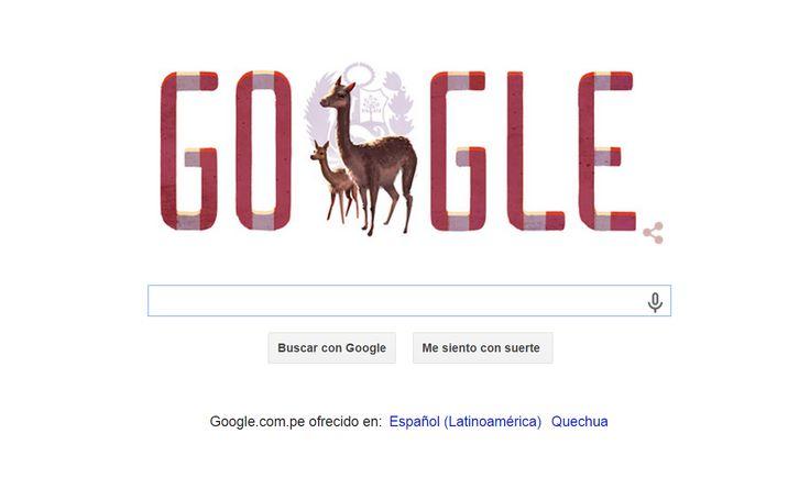La imagen del día para Google, me encanta por los 194 años de nuestro querido Perú. ¡Un abrazo fraterno para todos! ¡Feliz 28 de Julio!