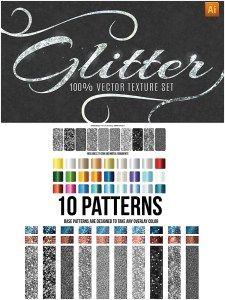 GLITTER TEXTURE AND PATTERNS VECTOR SET - http://freepicvector.com/glitter-texture-and-patterns-vector-set/