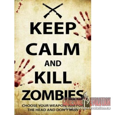 Poster from General Horror : Official Keep Calm and Kill Zombies Zombies-Poster