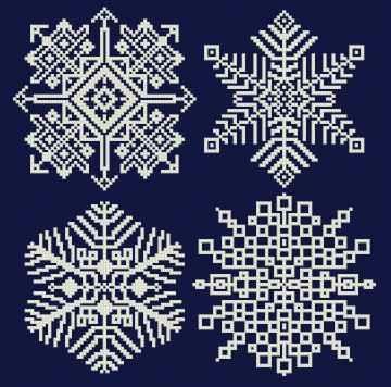 Snowflakes 2005 cross stitch pattern.